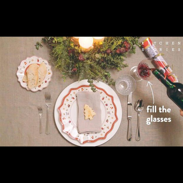 Charming holiday table