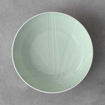 it's my match serving bowl Leaf, 26 x 6.5 cm, Mineral Green
