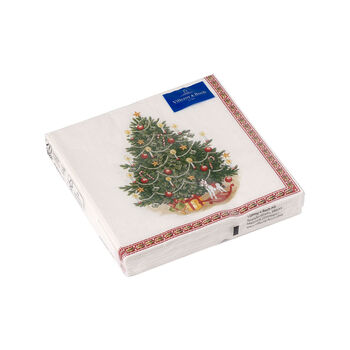 Winter Specials cocktail napkin Christmas tree, green/multicoloured, 20 pieces, 25 x 25 cm