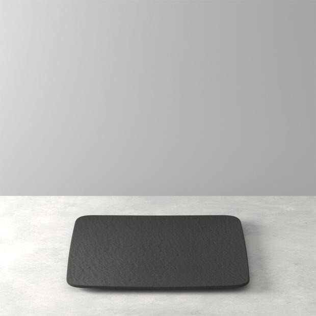 Manufacture Rock square serving/gourmet plate, black/grey, 32.5 x 32.5 x 1.5 cm, , large