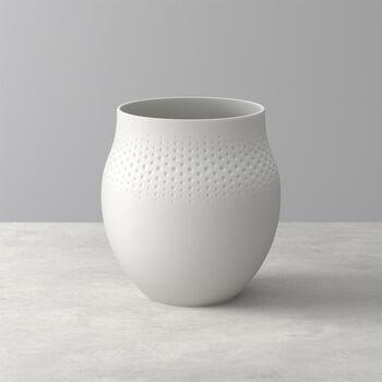 Manufacture Collier blanc Vase Perle large 16,5x16,5x17,5cm