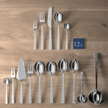 Blacksmith table cutlery 70 pieces, for 12 people