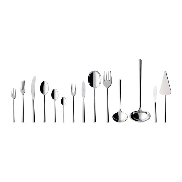 Piemont Lunch table cutlery, 113 pieces, for 12 people, , large