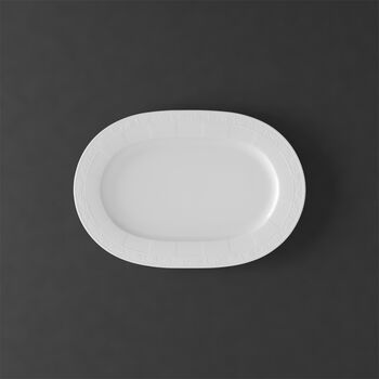 White Pearl oval plate 35 cm