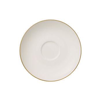 Anmut Gold tea cup saucer, 15 cm diameter, white/gold