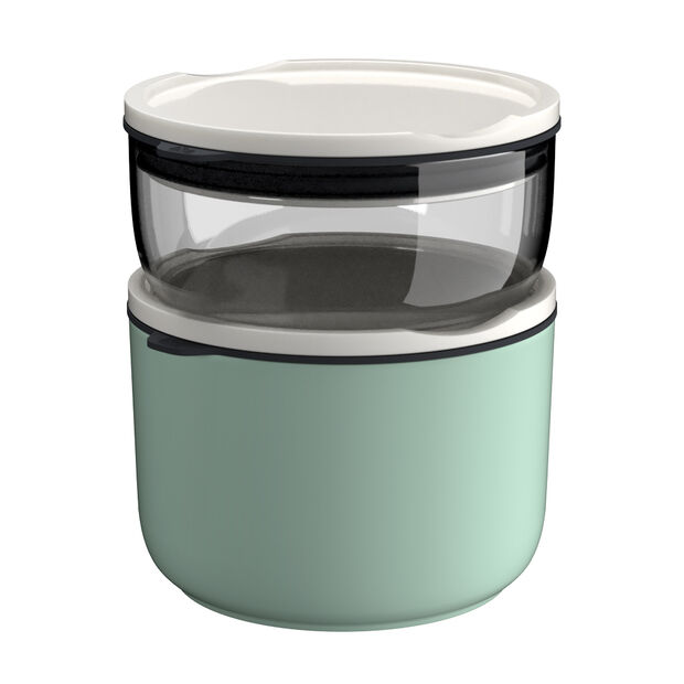 ToGo&ToStay lunch box set, 2 pieces, glass, grey/mint green, , large