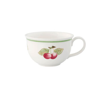 Charm & Breakfast French Garden White coffee cup XL