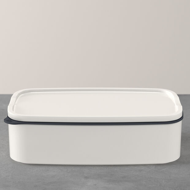 ToGo&ToStay lunch box, 20 x 13 x 6 cm, rectangular, white, , large