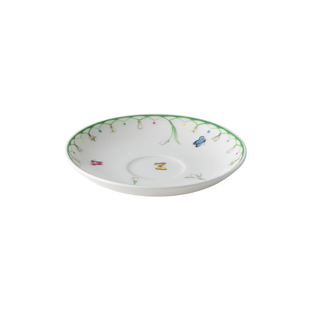 Colourful Spring espresso cup saucer, white/green, , large