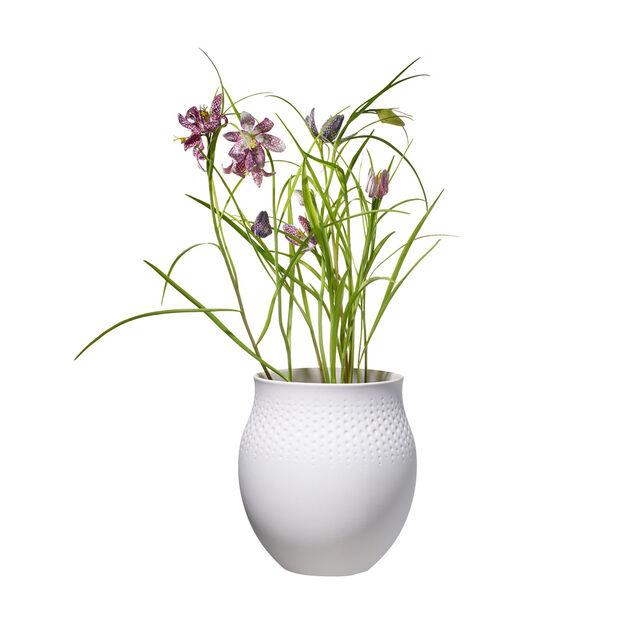 Manufacture Collier blanc Vase Perle large 16,5x16,5x17,5cm, , large