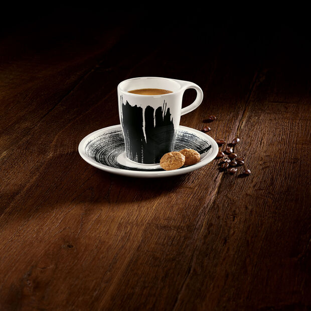 Coffee Passion Awake Doppio espresso cup with saucer, 2 items, , large