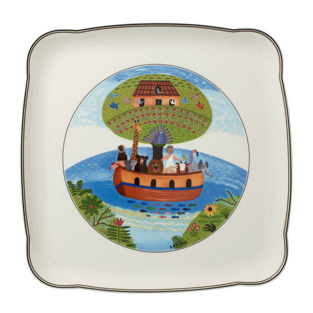Charm & Breakfast Design Naif square plate 30 cm, , large