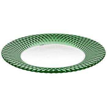 Boston Coloured underplate, green, 32 cm