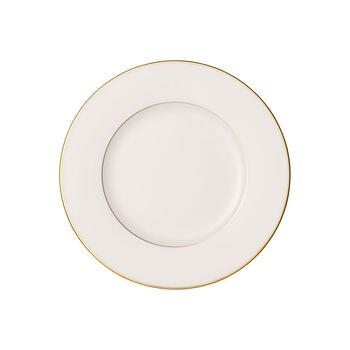 Anmut Gold breakfast plate, 22 cm diameter, white/gold