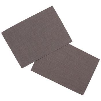 Textil Uni TREND Placemat, 2 pieces, graphit, 35x50cm