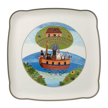 Charm & Breakfast Design Naif square plate 30 cm