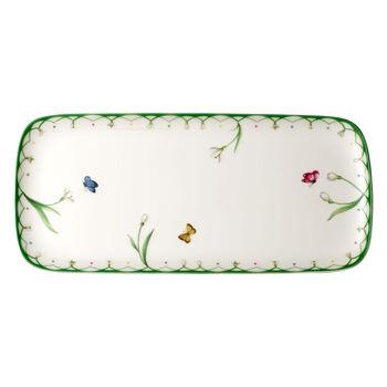 Colourful Spring rectangular cake plate 35x16 cm