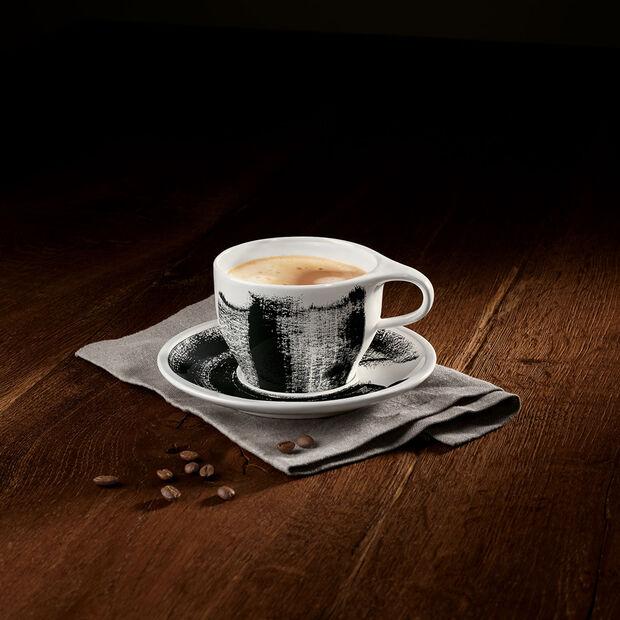 Coffee Passion Awake White coffee cup & saucer 2pcs, , large