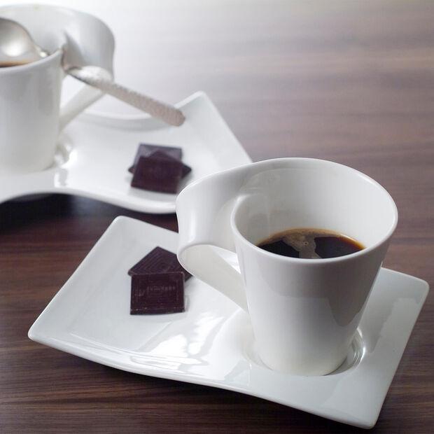 NewWave Caffè large coffee cup saucer 22 x 17 cm, , large