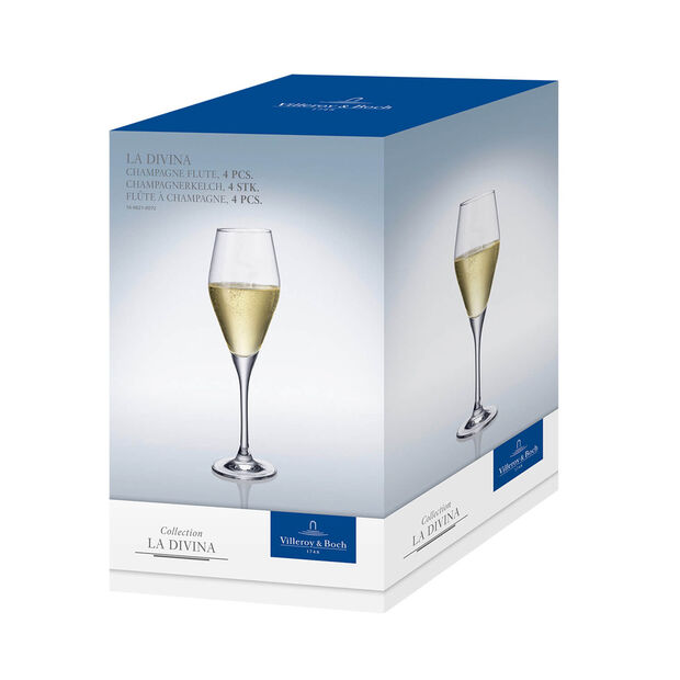La Divina champagne flute, 4 pieces, , large