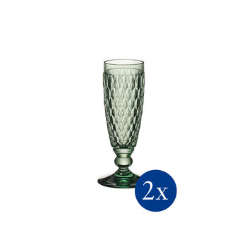 Boston coloured Cheers in green set, 2 pieces