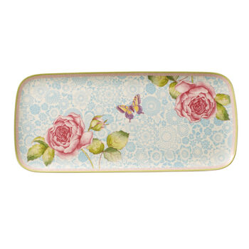 Rose Cottage square cake plate