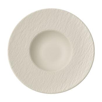Manufacture Rock blanc Pasta plate 28x28x5cm