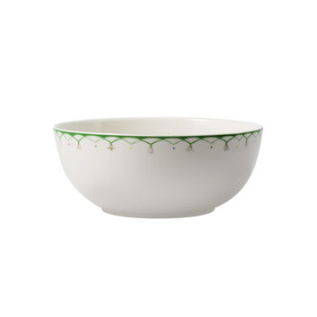 Colourful Spring small salad bowl, 2.5 l, white/green