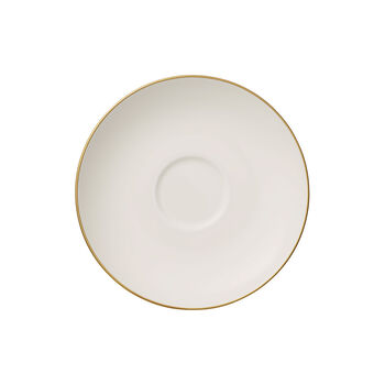 Anmut Gold coffee cup saucer, white/gold