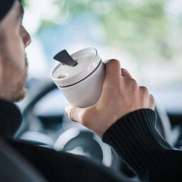 To Go coffee mug, 350 ml, white, , large