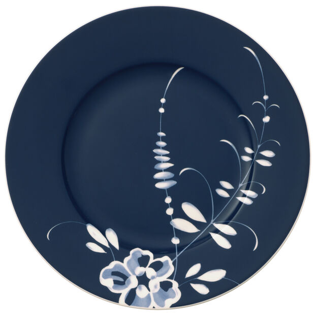 Old Luxembourg Brindille blue breakfast plate, , large