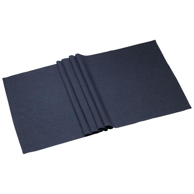 Textil Uni TREND Runner vintage blue 50x140cm, , large