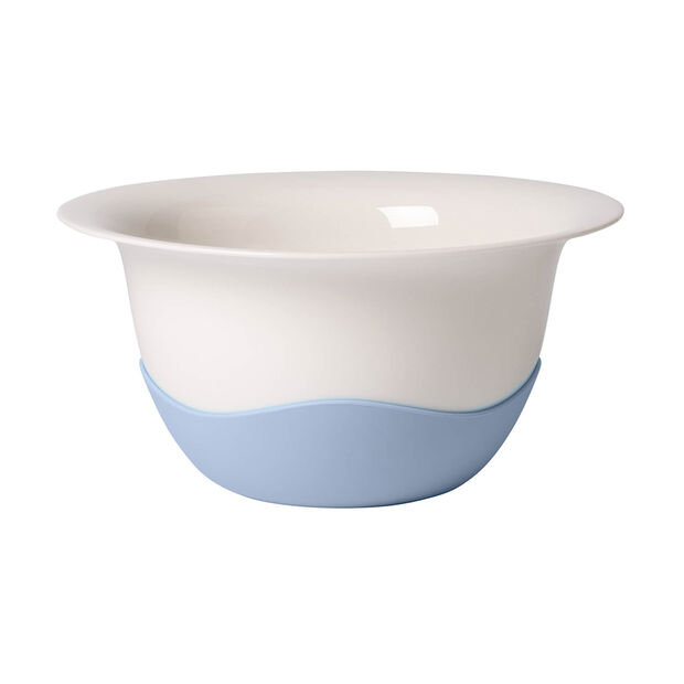 Clever Cooking blue strainer/serving bowl, , large