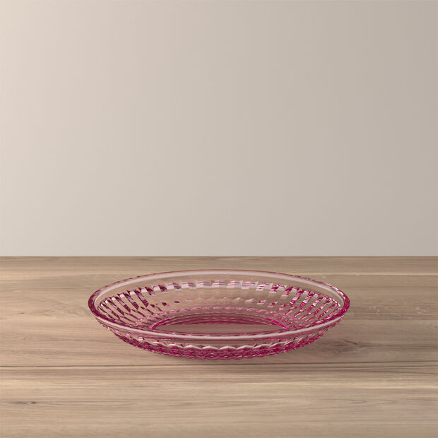Boston Coloured salad/dessert plate, rose, 21 cm, , large