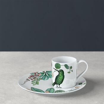 Avarua mocha/espresso cup & saucer, 80 ml, white/multicoloured