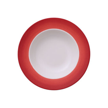 Colourful Life Deep Red soup plate