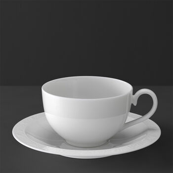 White Pearl Breakfast cup & saucer 2pcs