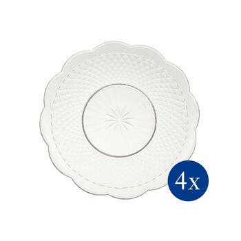 Boston Flare dessert plate, 4 pieces