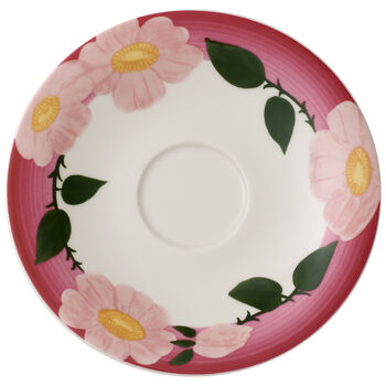 Rose Sauvage framboise breakfast cup saucer