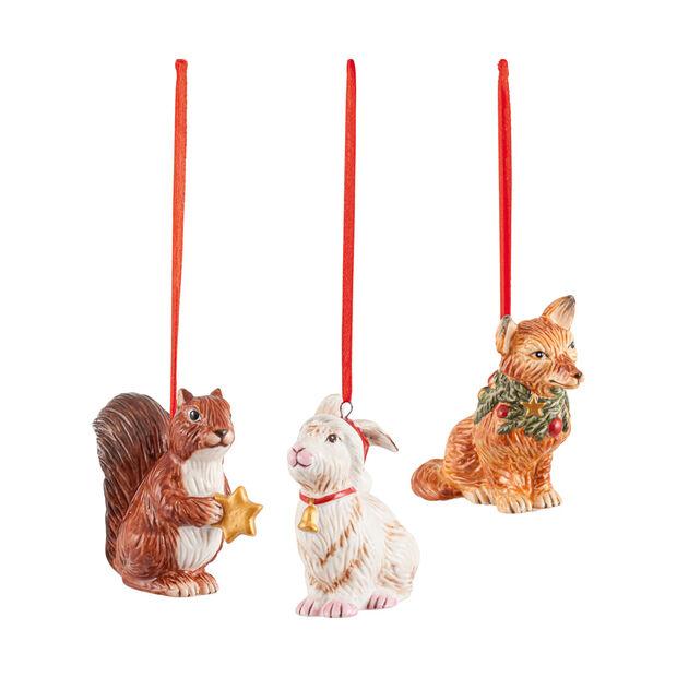 Nostalgic Ornaments ornament set forest animals, 6 x 7 cm, 3 pieces, , large