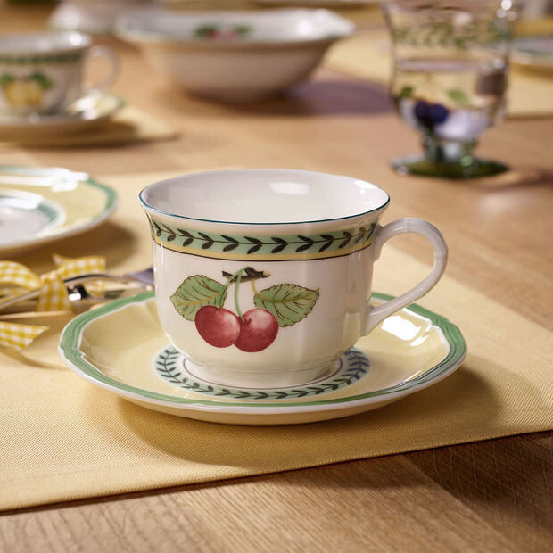 French Garden Fleurence cappuccino cup saucer, , large