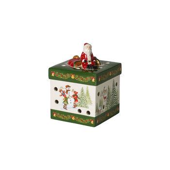 Christmas Toys Gift box small square, Santa Claus 9x9x13cm