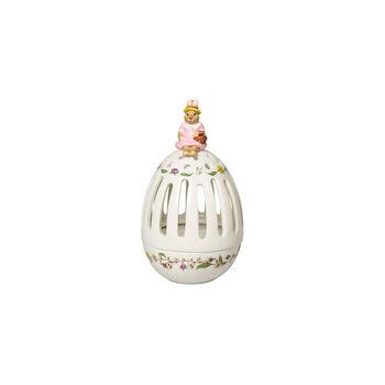 Bunny Tales tea light holder egg Anna, 16 cm, multicoloured