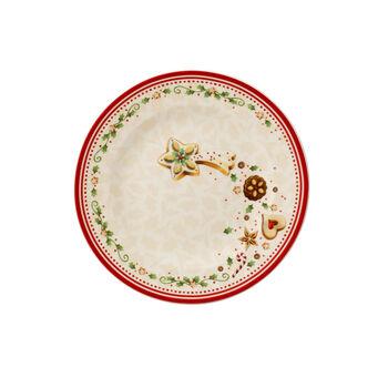 Winter Bakery Delight falling star breakfast plate