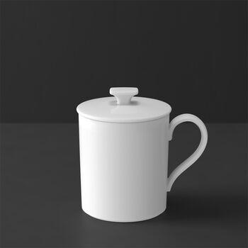 MetroChic blanc Gifts Mug with lid 11,5x8,5x11cm