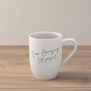 """Statement mug """"I´m amazing. Not perfect"""""""