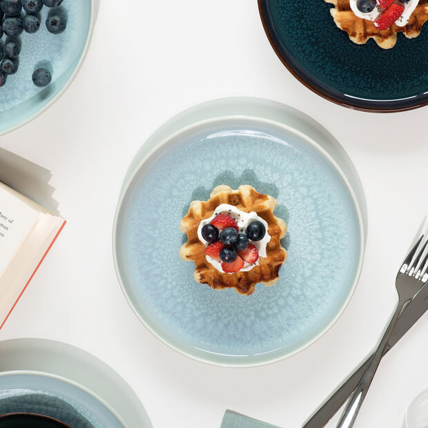 Crafted Blueberry breakfast set, turquoise, 6 pieces, , large