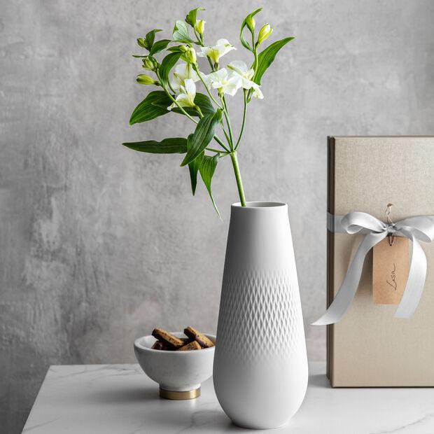 Manufacture Collier blanc Vase Carré tall 11,5x11,5x26cm, , large