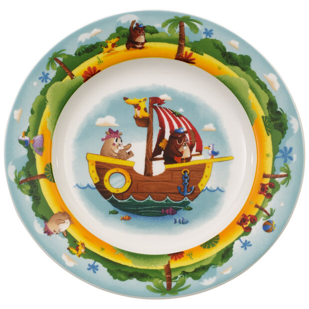 Chewy's Treasure Hunt Flat children's plate, , large