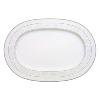 Gray Pearl oval plate 41 cm